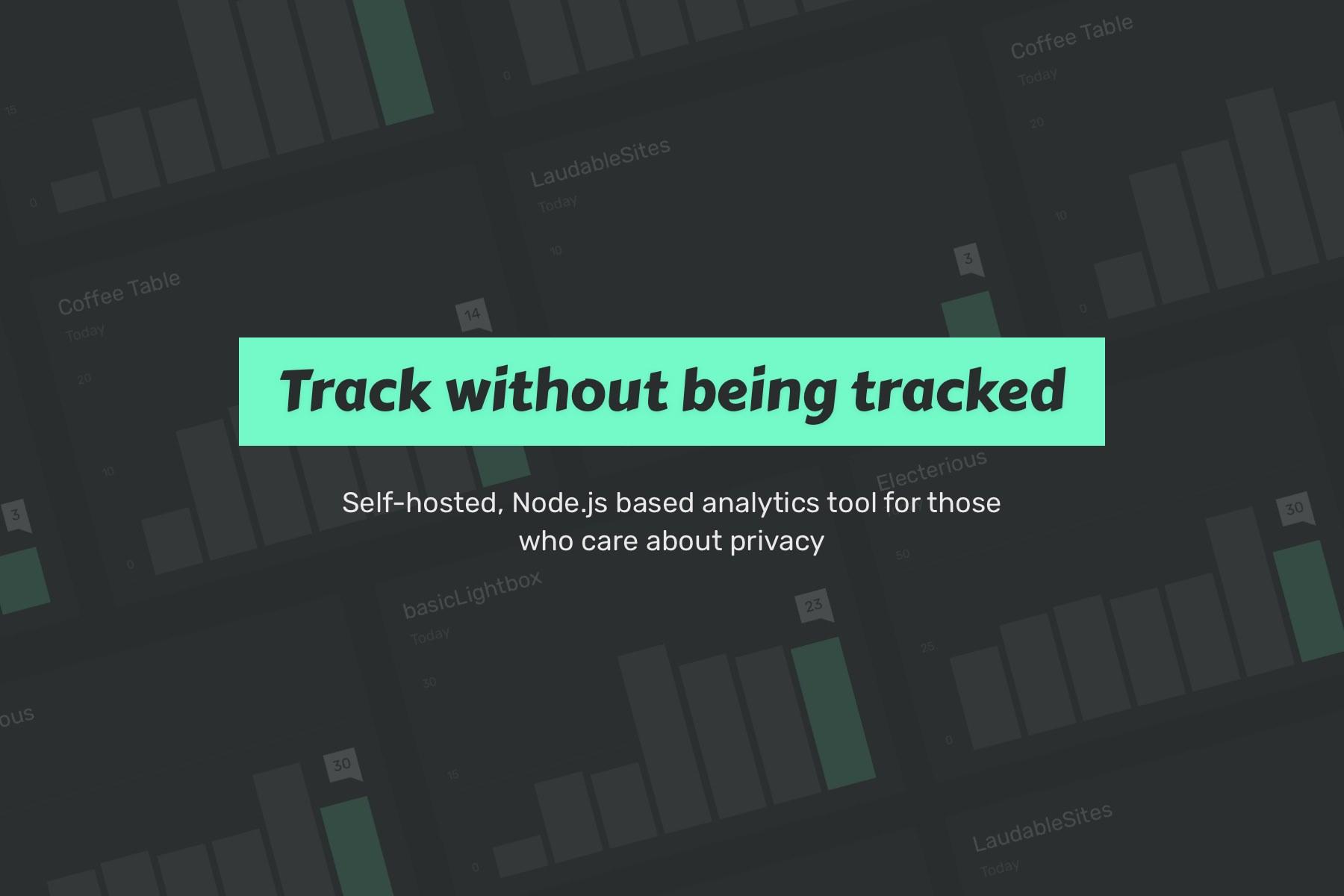 Self-hosted website analytics | Ackee